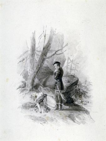 'Fitz-James and the dying Blanche of Devan', 19th century