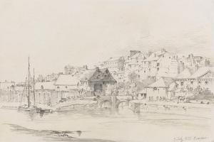Exeter Custom House and Quay, 1831 by Henry Courtney Selous