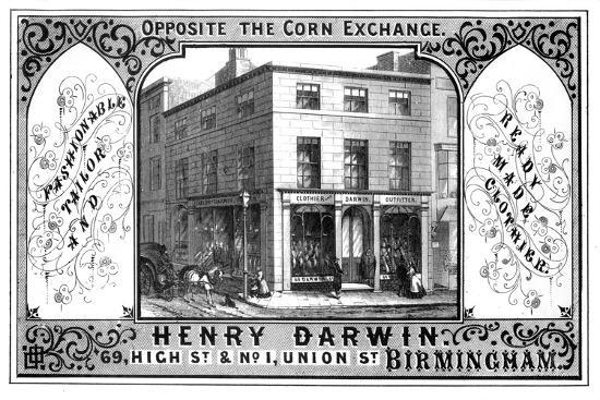 Henry Darwin Tailor's Shop, Birmingham, 19th Century-T Underwood-Giclee Print