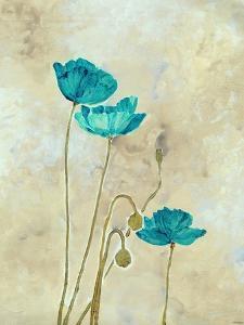 Tealqoise Flowers II by Henry E.