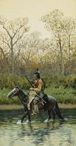 Indian on Horseback, 1905 by Henry F. Farny