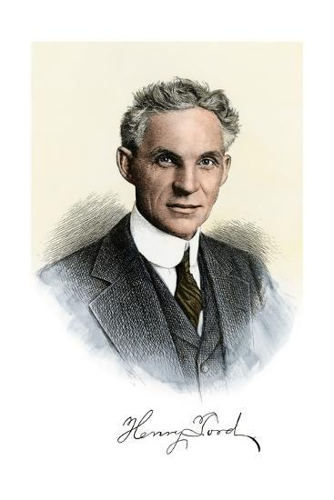 Henry Ford Portrait, with Autograph--Photographic Print