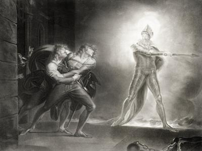 Hamlet, Act I, Scene IV, by William Shakespeare (1564-1616) Engraved by Robert Thew (1758-1802)