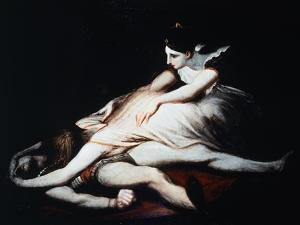 Kriemhild Throws Herself on Siegfried's Corpse, 1817 by Henry Fuseli