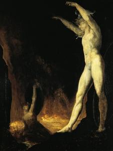 Satan Calling to Beelzebub, 1802 by Henry Fuseli