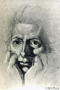 Study for Self-Portrait, by Henry Fuseli (1741-1825). Switzerland, 18th Century by Henry Fuseli