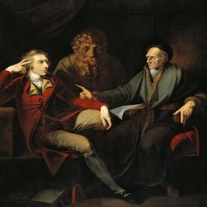 The Artist in Conversation with Johann Jakob Bodmer, 1778-1781 by Henry Fuseli
