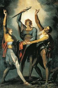 The Three Confederates During the Rutli Oath, 1780 by Henry Fuseli