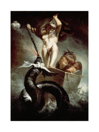 Thor Fighting Midgard Snake, 1788