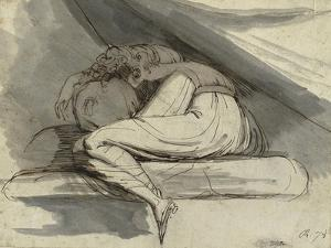 Woman Sitting, Curled up, after 1778 by Henry Fuseli