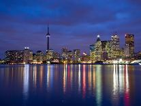 View of Toronto Skyline at Night from 'The Docks', Toronto, Ontario, Canada.-Henry Georgi-Photographic Print