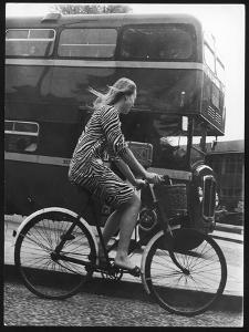 An Oxford Student on Her Bike by Henry Grant