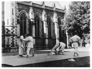 Judo Is Practised in the 'Quad' at Oxford by Henry Grant