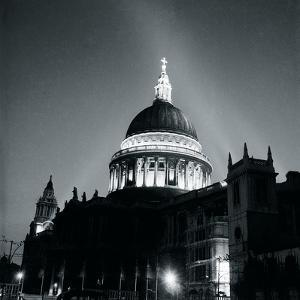 St Paul's Cathedral By Floodlight, 1951 by Henry Grant