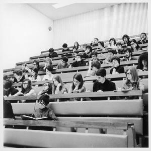 Students in a Lecture Theatre at Warwick University, Coventry by Henry Grant