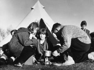 Time to Brew Up at a Winter Camp for Schoolchildren by Henry Grant