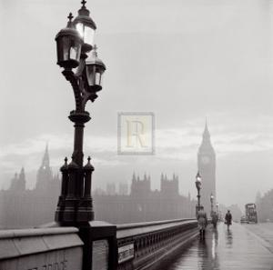 Westminster Bridge and Houses of Parliament, c.1962 by Henry Grant
