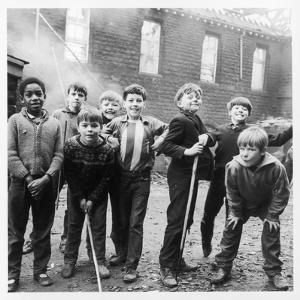 Working Class Children in Sheffield Playing in the Street by Henry Grant