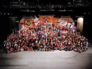20th Reunion of Ringling Brothers and Barnum and Bailey Clown College by Henry Groskinsky