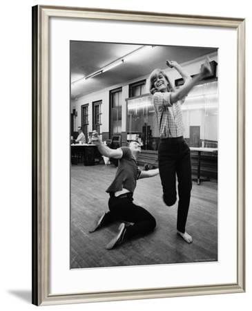 """Actress Melina Mercouri Practicing a Dance Number for the Play """"Illya Darling"""""""