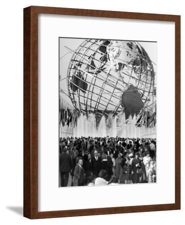 Fountains Surrounding Unisphere at New York World's Fair Closing Day