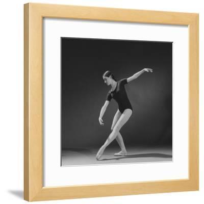 "Photograph Taken Using a 4th Light Source on Ballerina Executing a ""Croise En Avant"" Movement"