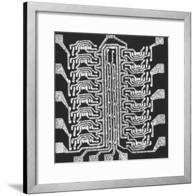 Photographically Produced Computer Circuit Magnified 40 Times