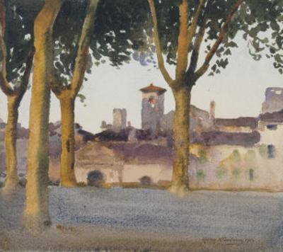 On the Walls, Lucca, c.1923 by Henry H. Bulman
