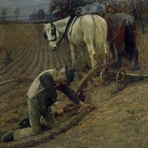The Last Furrow, 1895 by Henry Herbert La Thangue