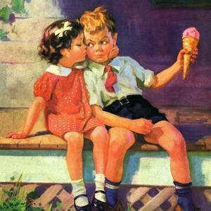 """""""Kiss for Ice Cream,""""June 1, 1936 by Henry Hintermeister"""
