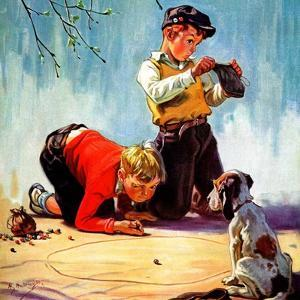 """""""Lost All His Marbles,""""March 1, 1937 by Henry Hintermeister"""