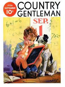 """""""Math Problems,"""" Country Gentleman Cover, September 1, 1936 by Henry Hintermeister"""