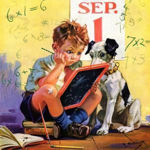 """Math Problems,""September 1, 1936 by Henry Hintermeister"
