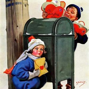 """My Secret Valentine,""February 1, 1938 by Henry Hintermeister"