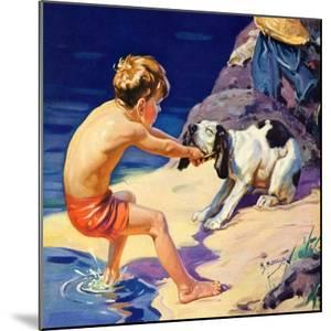 """""""Pooch Doesn't Want to Swim,""""September 1, 1934 by Henry Hintermeister"""