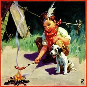 """Weiner Roast,""May 1, 1934 by Henry Hintermeister"