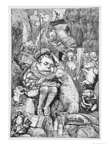 """Illustration for """"The Hunting of the Snark"""" by Lewis Carroll London, 1876 by Henry Holiday"""