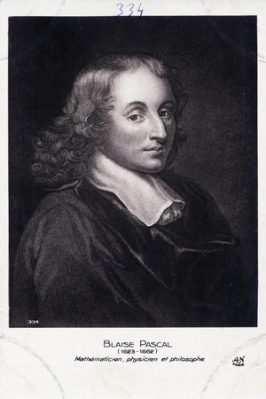 Blaise Pascal Engraving