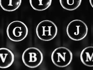 Old Typewriter Keys by Henry Horenstein