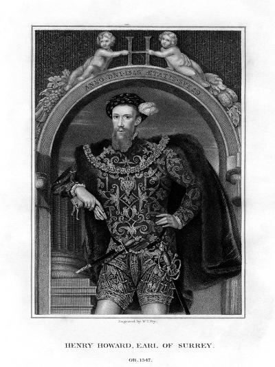 Henry Howard, Earl of Surrey, English Aristocrat and Poet-William Thomas Fry-Giclee Print