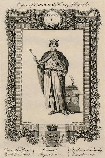 'Henry I', (1068-1135), c1787-Unknown-Giclee Print