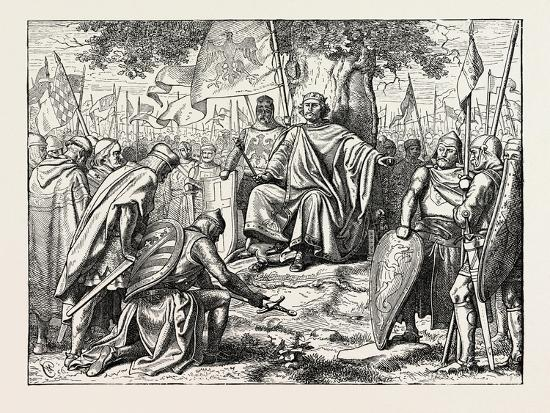 Henry I. Receiving the Homage of Vassal Chiefs--Giclee Print