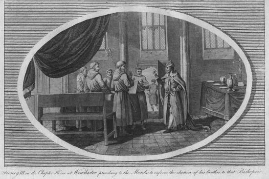 Henry III in the Chapter House at Winchester Cathedral, 1250 (1793)-Unknown-Giclee Print