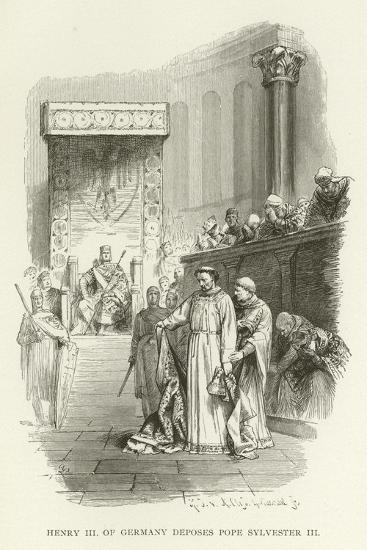Henry III of Germany Deposes Pope Sylvester III--Giclee Print