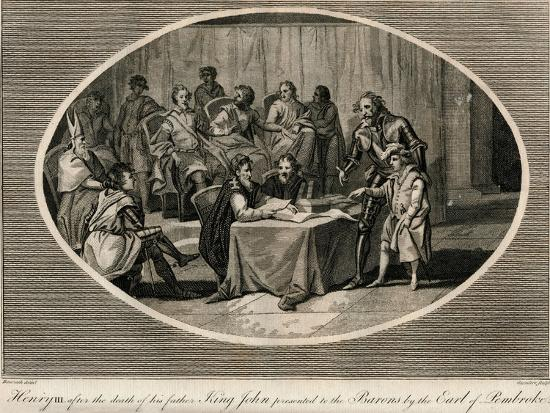 Henry III presented to the Barons by the Earl of Pembroke, 1216 (1793)-Unknown-Giclee Print