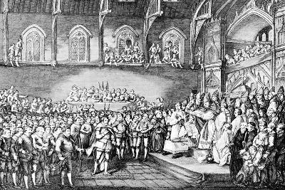 Henry III Renewing the Magna Carta in 1253--Giclee Print