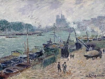 Henry IV Bridge, Paris, c.1918-Gustave Loiseau-Giclee Print