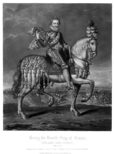 Henry IV, King of France-Charles Turner-Giclee Print