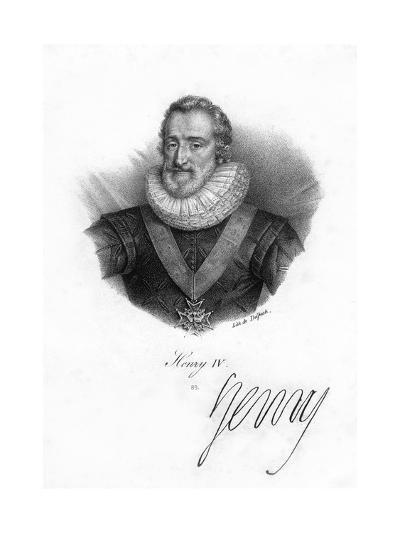 Henry IV of France, (1553-161)- Delpech-Giclee Print