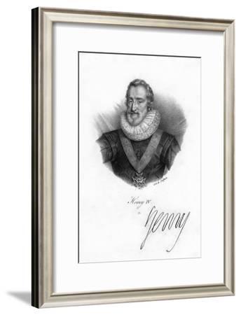Henry IV of France, (1553-161)- Delpech-Framed Giclee Print